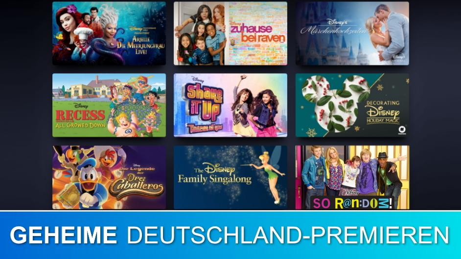 Disney+ Geheime Deutschland-Premieren