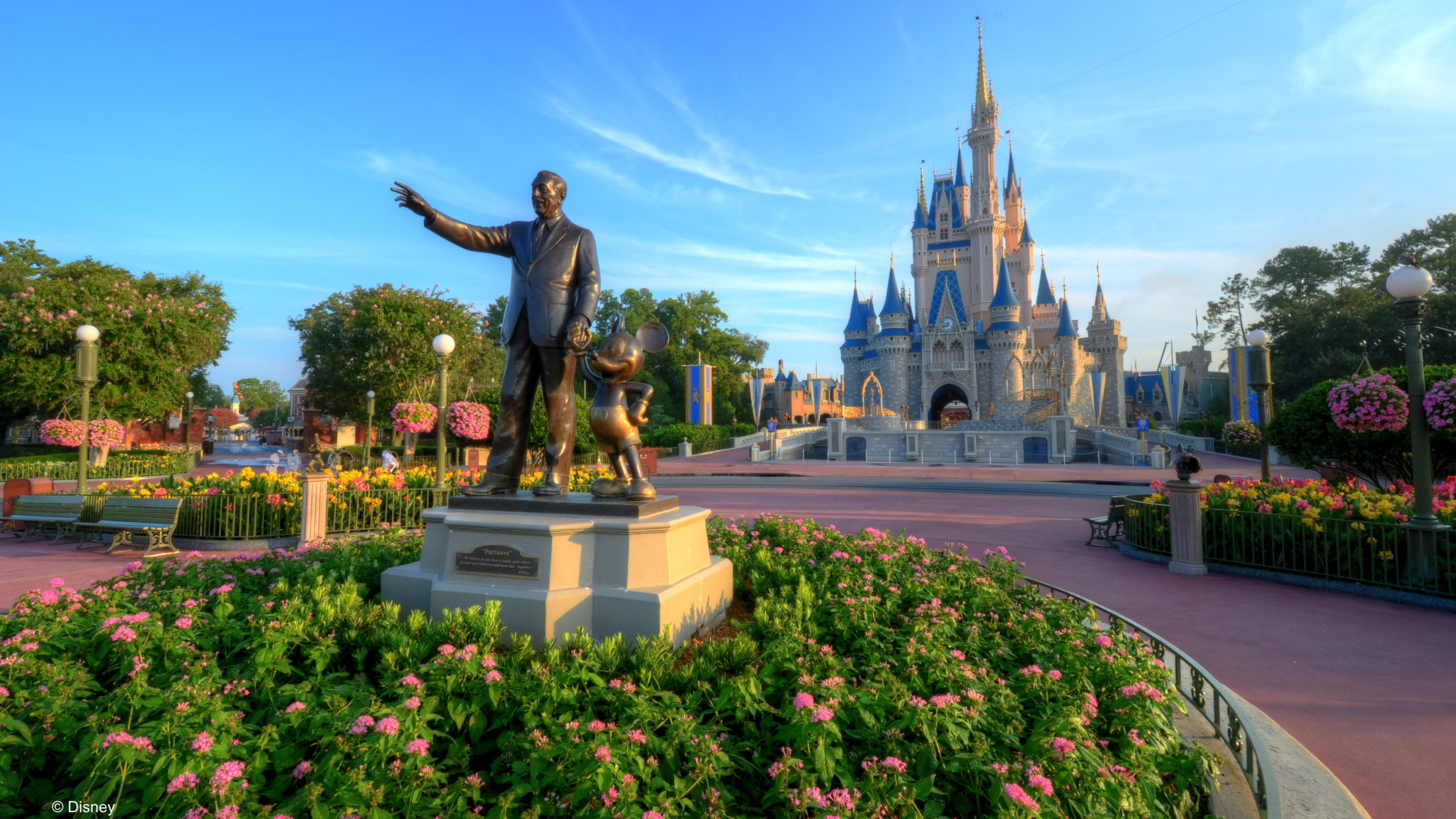Walt Disney World's Magic Kingdom with Partners Statue and Cinderella Castle