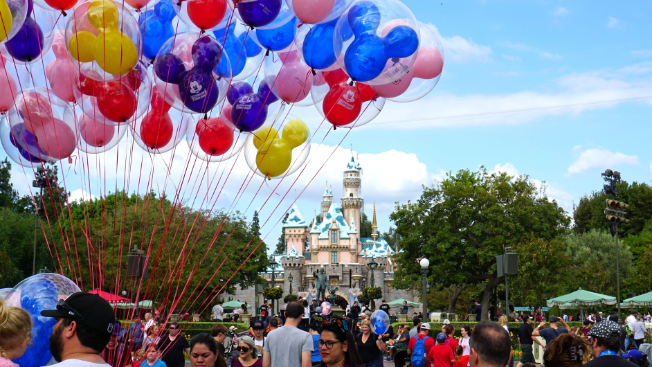 Disneyland Balloons and Castle