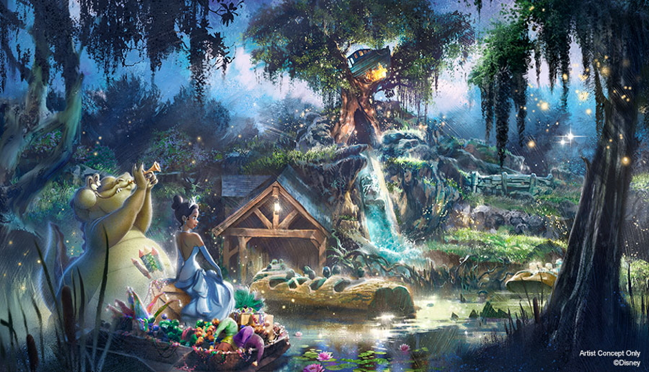 Princess and the Frog Splash Mountain concept art