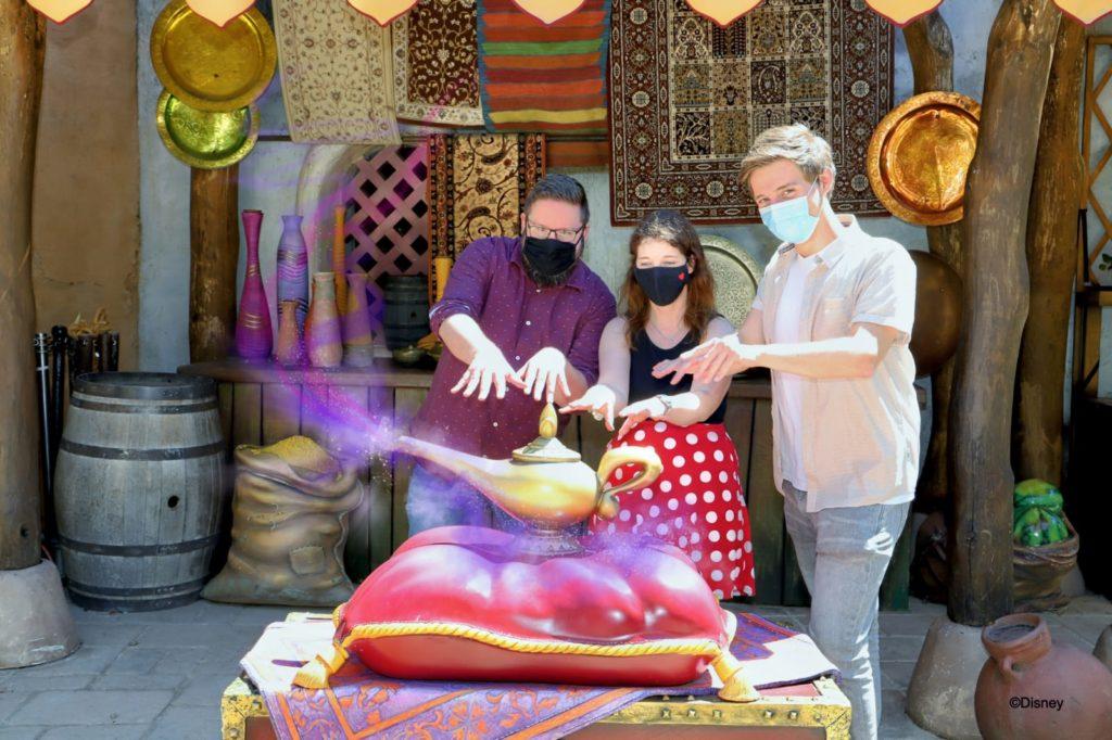 Aladdin's magic lamp in Adventureland