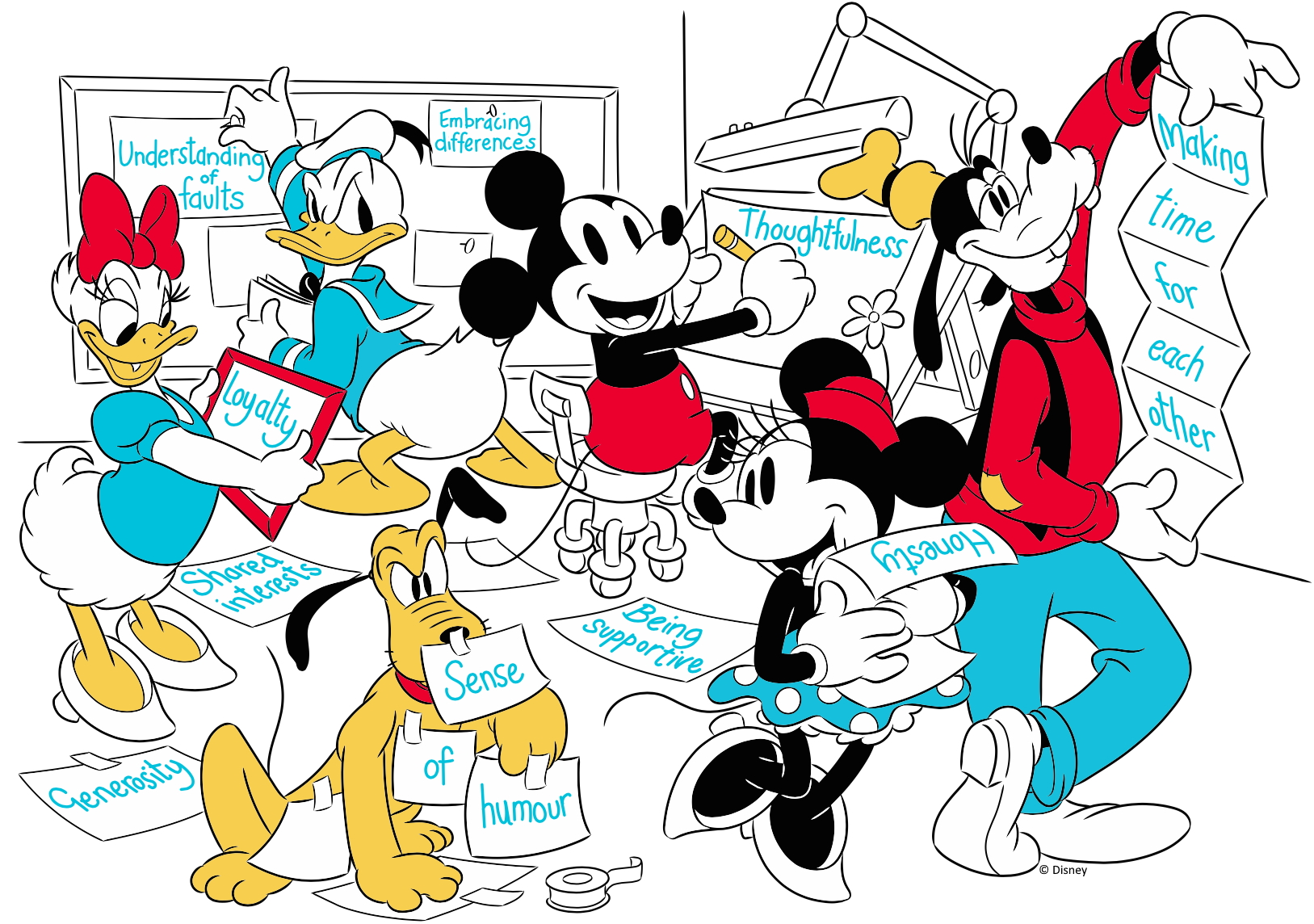 Mickey and his Friends - the sensational six