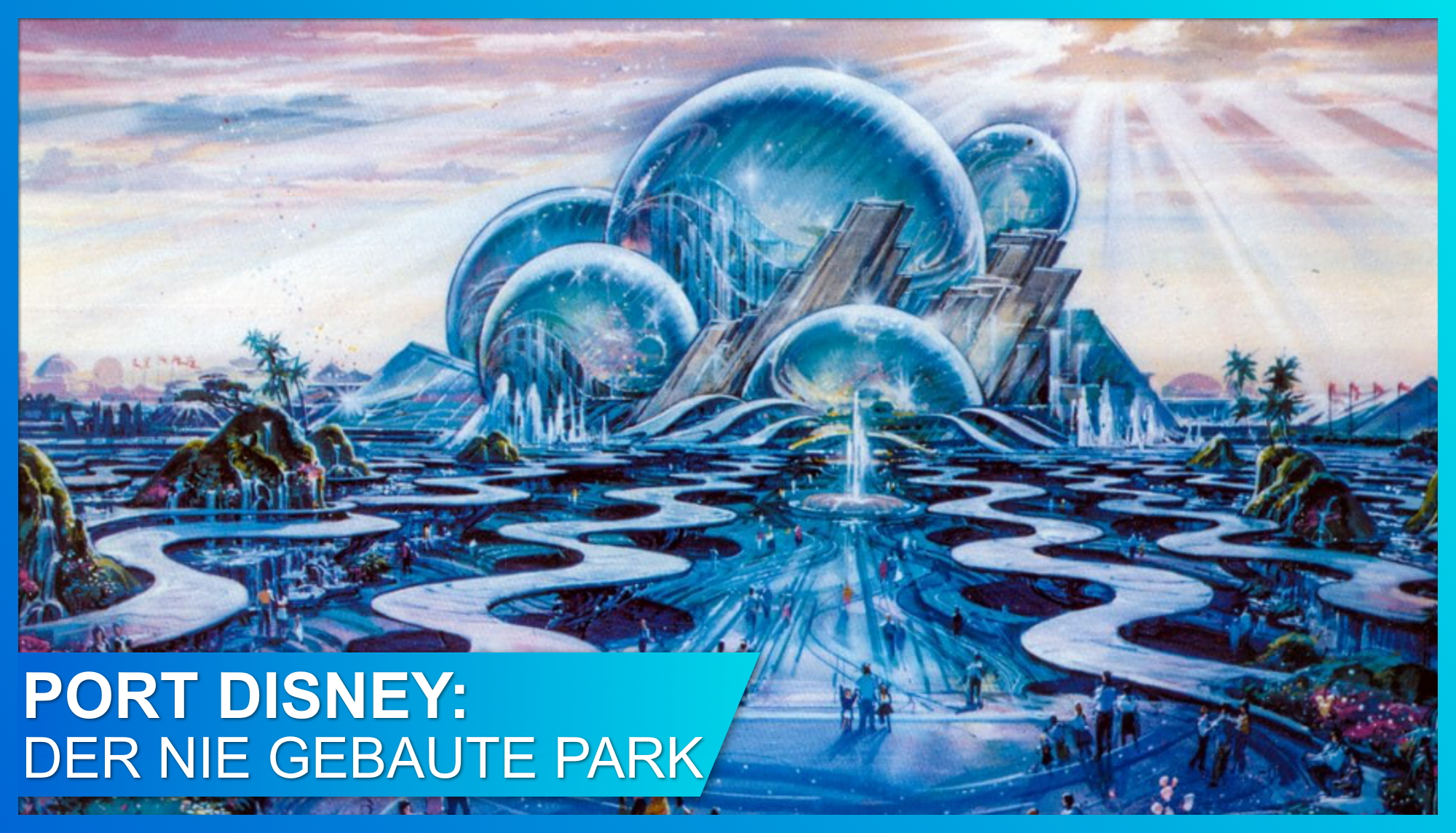 Konzeptzeichnung von Oceana, dem Wahrzeichen von Port Disney