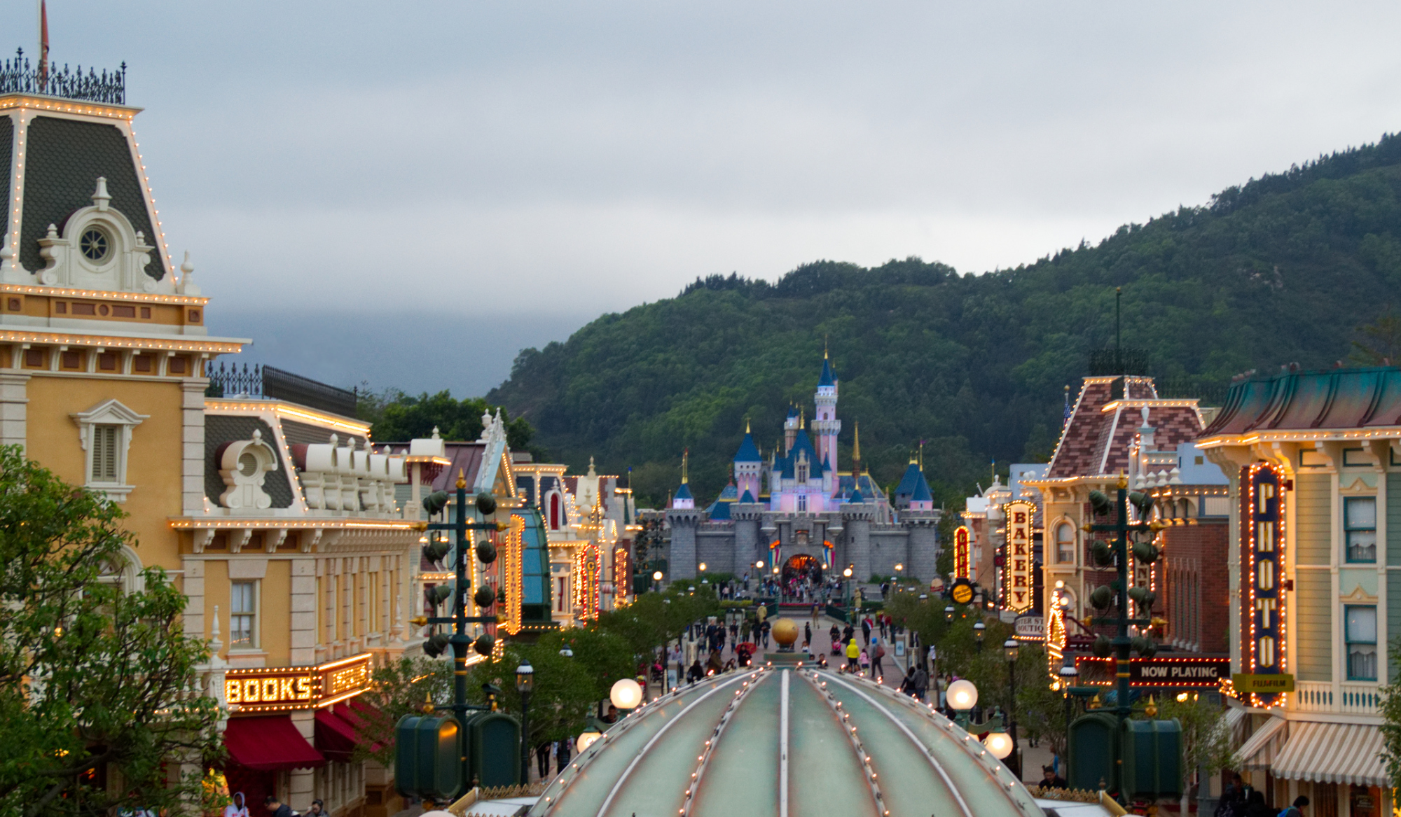 Die Main Street in Hong Kong Disneyland
