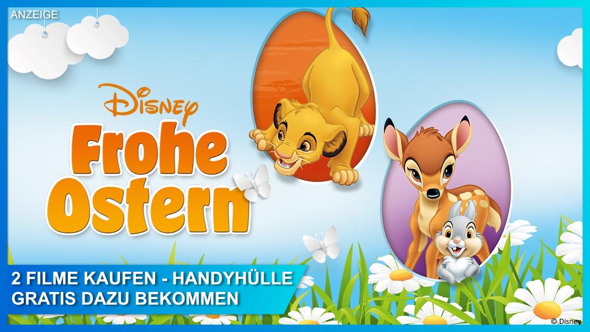 Disney Oster-Aktion: Handyhülle geschenkt für DVD- und Blu-ray-Käufer
