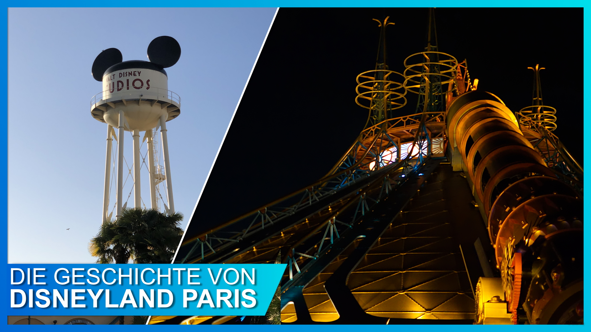Space Mountain und Walt Disney Studios Paris
