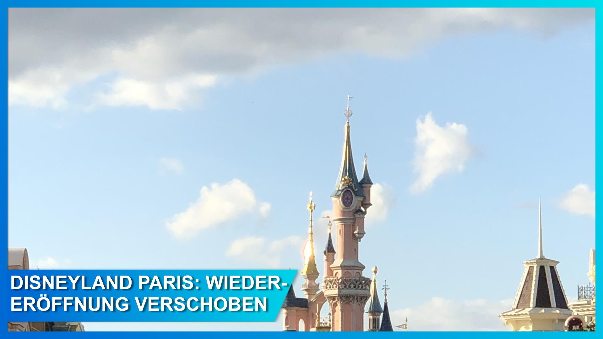 Graue Wolken über dem Schloss in Disneyland Paris