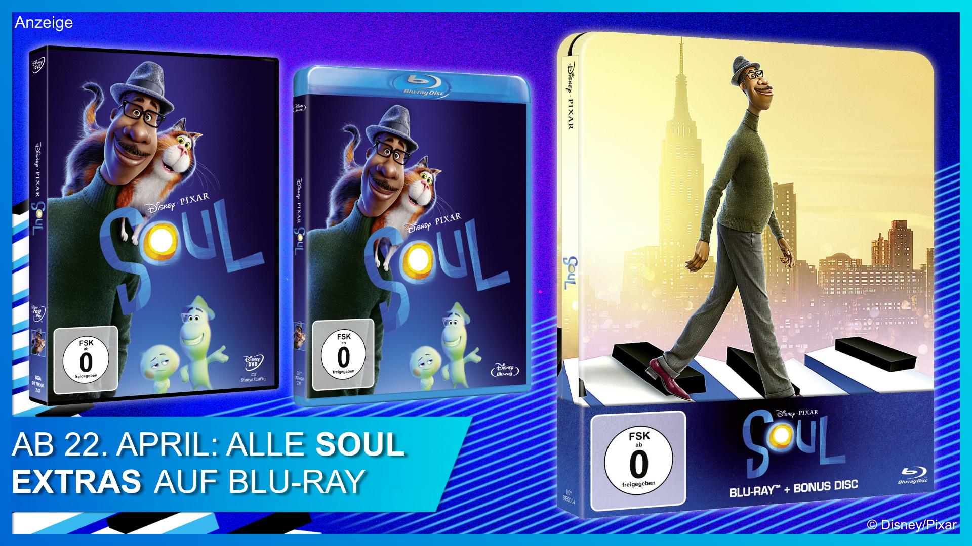Soul auf DVD, Blu-ray und im Steelbook
