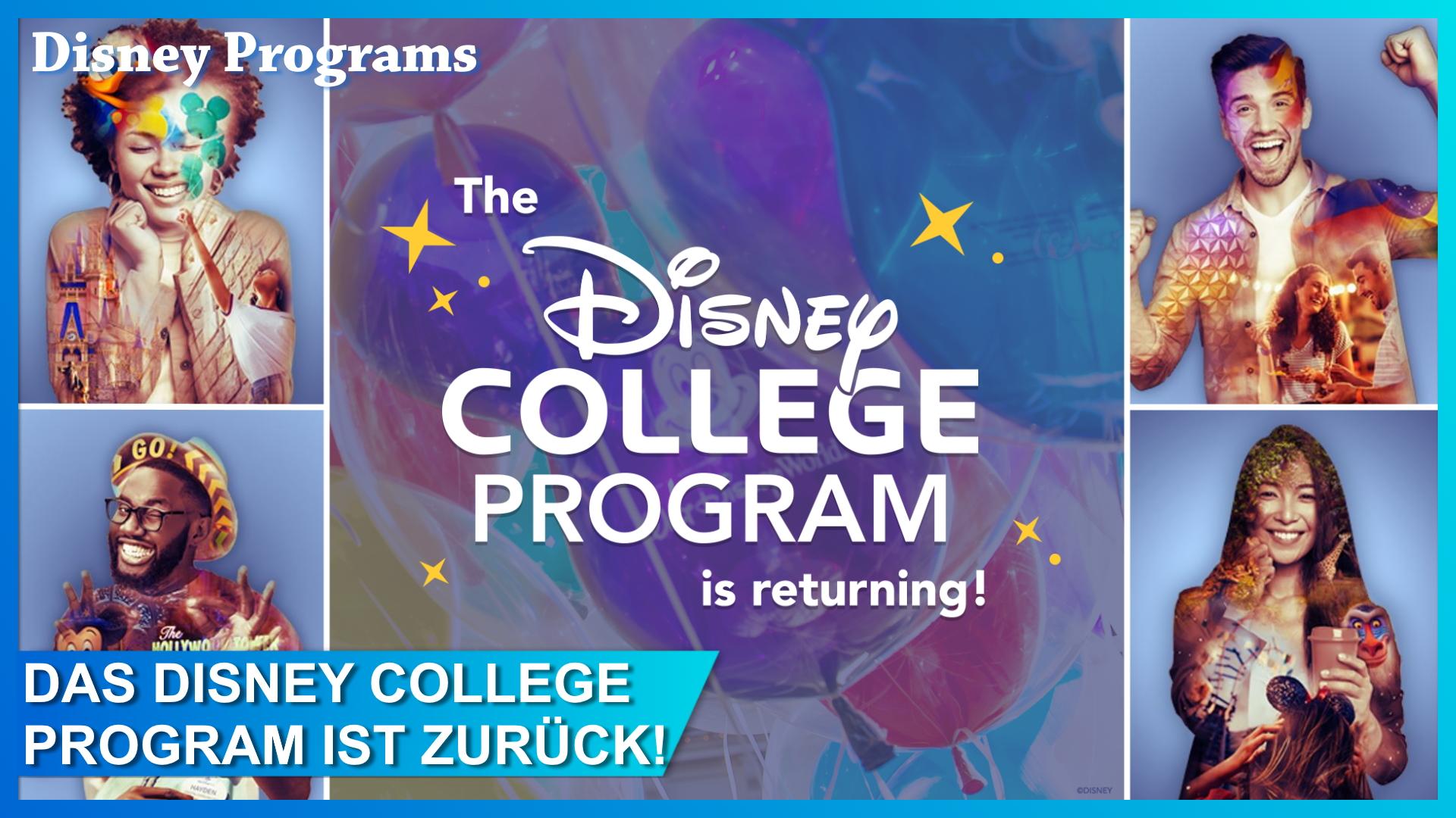 Disney College Program kehrt zurück