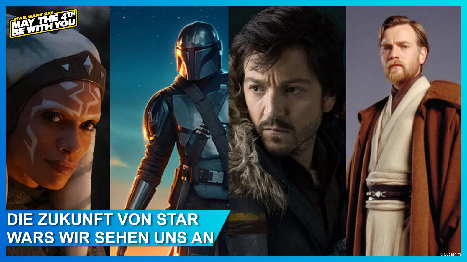 Ahsoka Tano, The Mandalorian, Cassian Andor und Obi-Wan Kenobi - Helden neuer Star Wars Serien auf Disney+