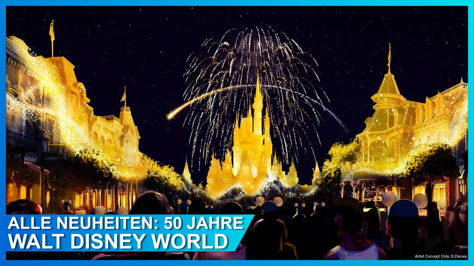 Disney Enchantment erleuchtet Cinderella Castle und die Main Street in Walt Disney World