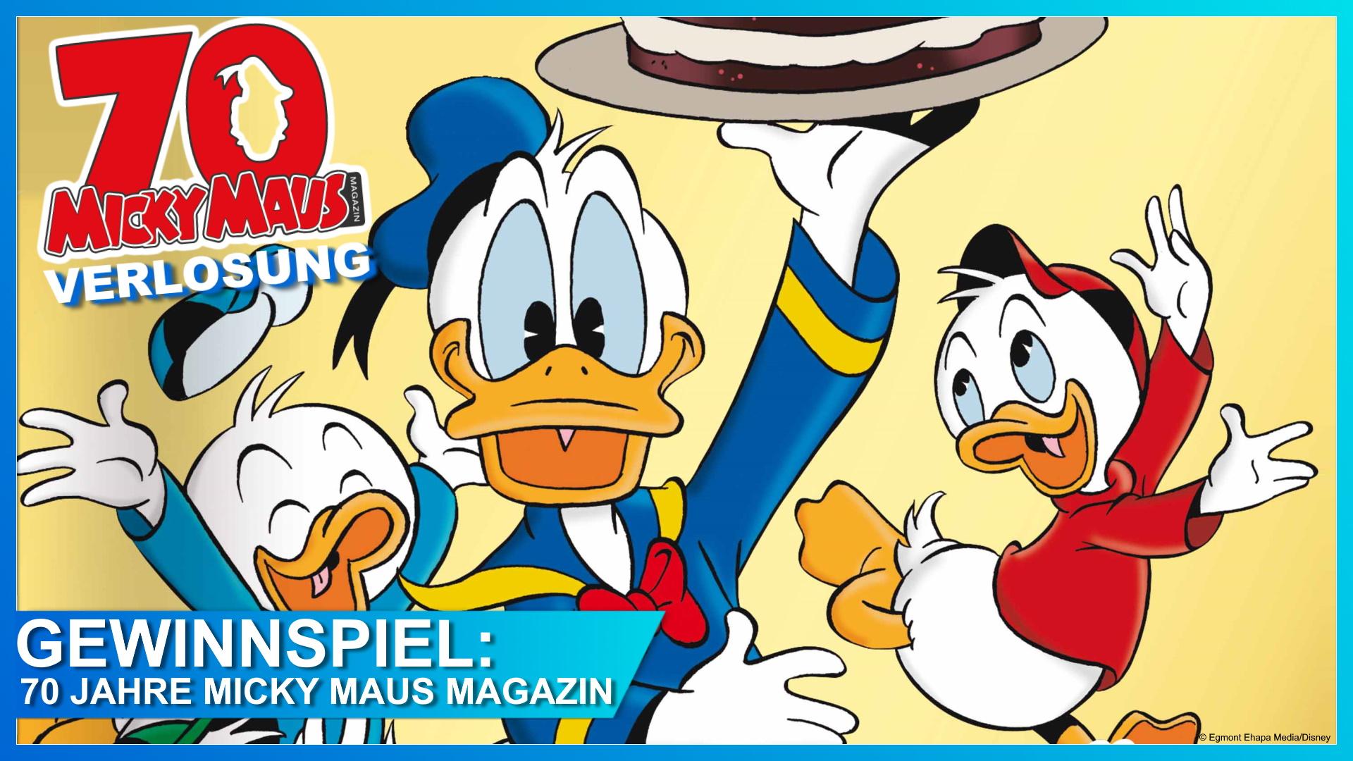 70 Jahre Micky Maus Magazin Gewinnspiel